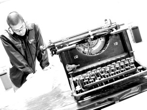La máquina de escribir © Isaí Moreno