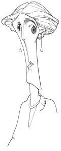 Dibujo a lápiz de Loredano.